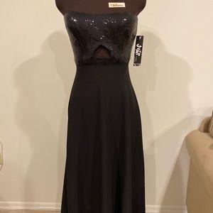 Black Sequin Floor Length Prom Dress Size 3/4